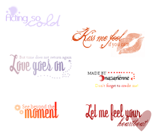Text brushes by nazarienne