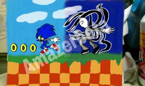 sonic vs slender remastered by amazerbeta