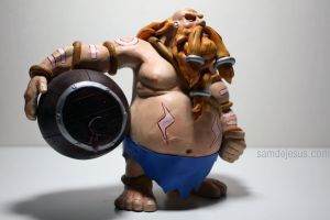 gragas the 3rd, painted by samdejesus