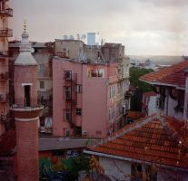 Rooftops, Istanbul. by blueblueelectricblue