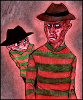 Freddy Krueger: Old meets New by Cageyshick05