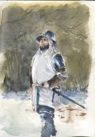 watercolor (knight) by artcobain