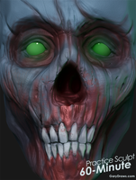 Undead Face - 60-Minute Practice Sculpt by GaryStorkamp