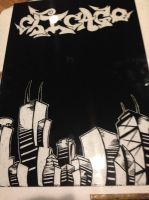 Chicago scratch art by Threedayslong