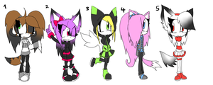 More Sonic Adopts +CLOSED+ by Sky-Yoshi
