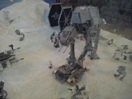 Star Wars Exhibition - Hoth's battle 3 AT-AT by Garci-The-Raccoon