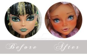 Lavender Chocolette Before and After Look by blanki