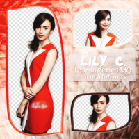 Pack png 41 - Lily Collins by worldofpngs