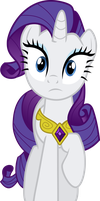 Rarity looking concerned by aqua-pony