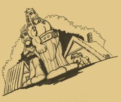 SKETCH JAM ASTERIX AND OBELIX by Luber-Lord