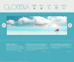 Cloudia Web Layout by EJ by Eriol-Diggory-Art