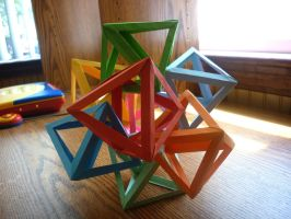 8-8's or Eight Interlocking Octahedra by musicmixer112