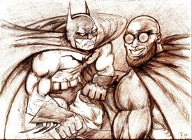 Batman vs Hugo Strange by MisterHydesSon