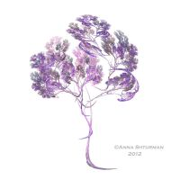 fractal tree 15 - lilac by Alvenka