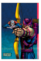 Hawkeye and Ant-Man in 3D Anaglyph by xmancyclops