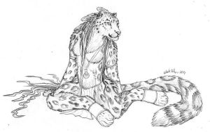 Snow Leopard Girl by autumnjaguar