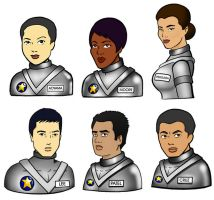 The Apollo 1300 Crew by ChibiCelina