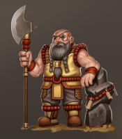 Dwarven Monk by stonepro