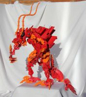 Bionicle MOC: Flame Dragon by Rahiden