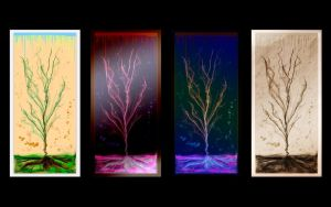 Variation of colors - tree by Upironetopyr
