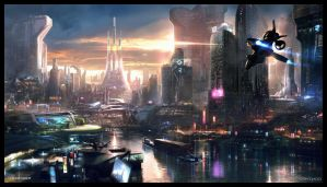 REMEMBER ME - NEO PARIS 2084 concept art by jamga