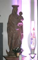 Mother mary figure in my home city by ingeline-art