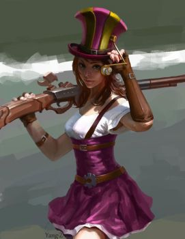 Caitlyn, the Sheriff of Piltover by yangzheyy