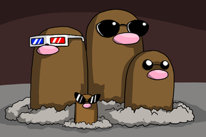 The Diglett Family by Zerochan923600