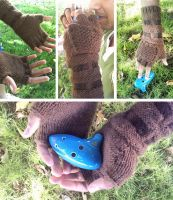 Knit Hero's Gauntlets by kateknitsalot