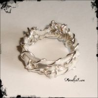 Wire and cotton ring by AmeliaLune