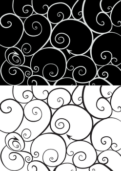 Curly tracery vector pattern by artrayd