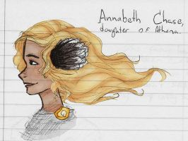 Annabeth Chase, daughter of Athena. by PrillaLightfoot