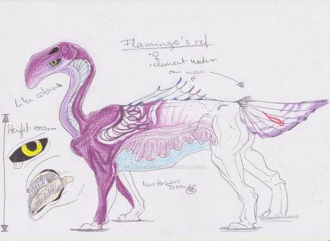 Flamingo ref 2017 by MurderousDemon