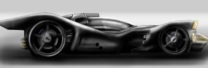 Batmobile Sideview Sketch by AndrewCM