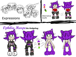 Ophilia Harpe the Hedgehog (REF)(2013) by X-A-K