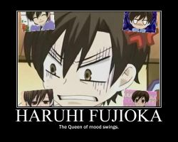 Haruhi's mood swings by TheWorldIsAVampire8