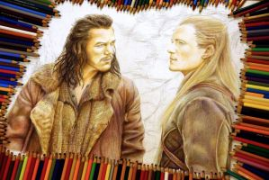 Legolas and Bard the Bowman - WIP by Alena-Koshkar