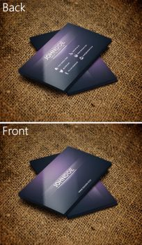 Creative Purple Business Card by SMHYLMZ