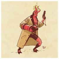Sketch 06 - Hellboy by ThiagoBuzzy