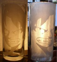 Optical ilusion glass carving! by xSkullstomperx