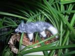 Needle felted standing arctic fox plushie by ArcticIceWolf