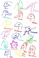 Dinosaurs and creatures collection by Dino-drawer