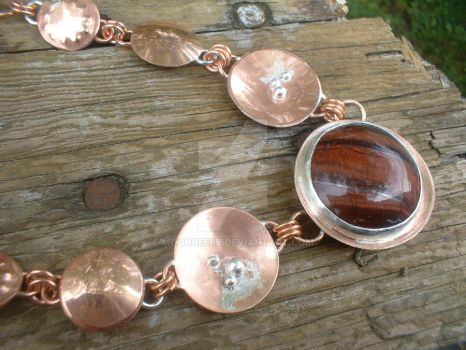 Copper and Sterling Silver Nec by moonbeebz