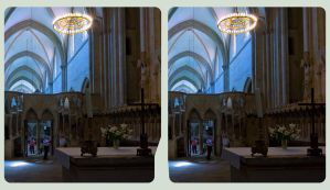Inside the Cathedral Of Naumburg 3D :::: Cross Eye by zour