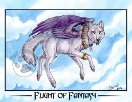 Flight of Fantasy Wolf by lady-cybercat