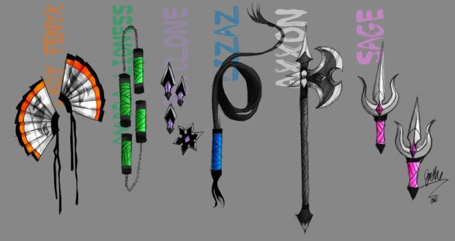 Elements Weapons by GretheFenyx