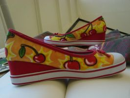 Cherry Bomb Wedges by Goldbryn