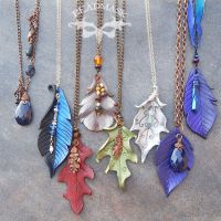 Beaded Leather Pendants by Beadmask