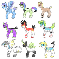 Pixel Pony Adoptables! (Open) by Lodidah