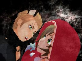 the Girl and the Wolf by hetalia-fanart